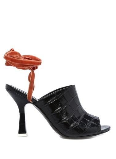 Attico Sandalet Siyah